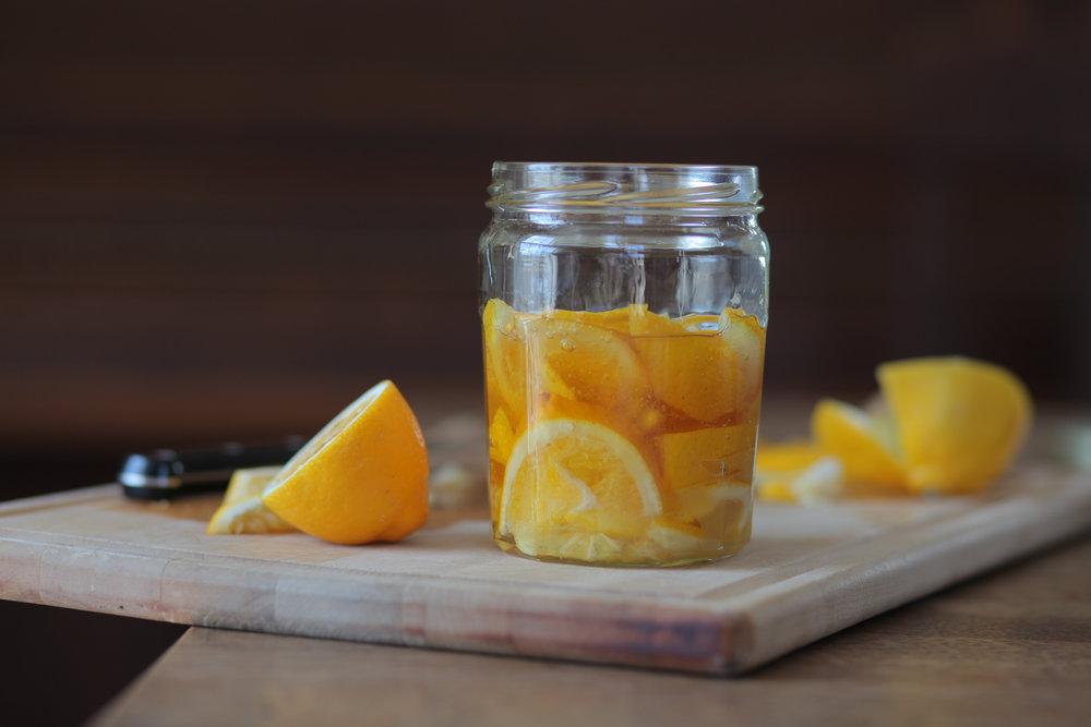 Honey lemon concentrate