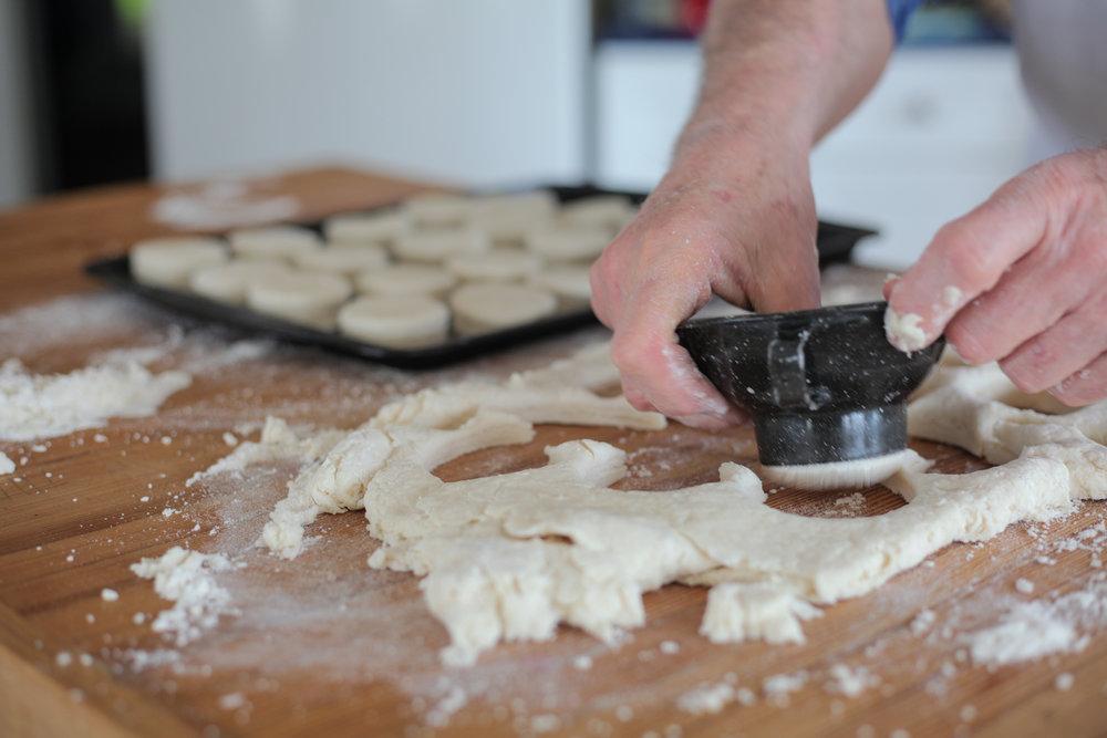 Cutting biscuits