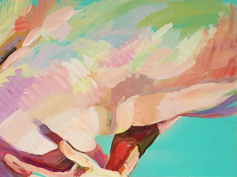 "Anticipation, acrylic on panel, 9"" x 12"", 2016"