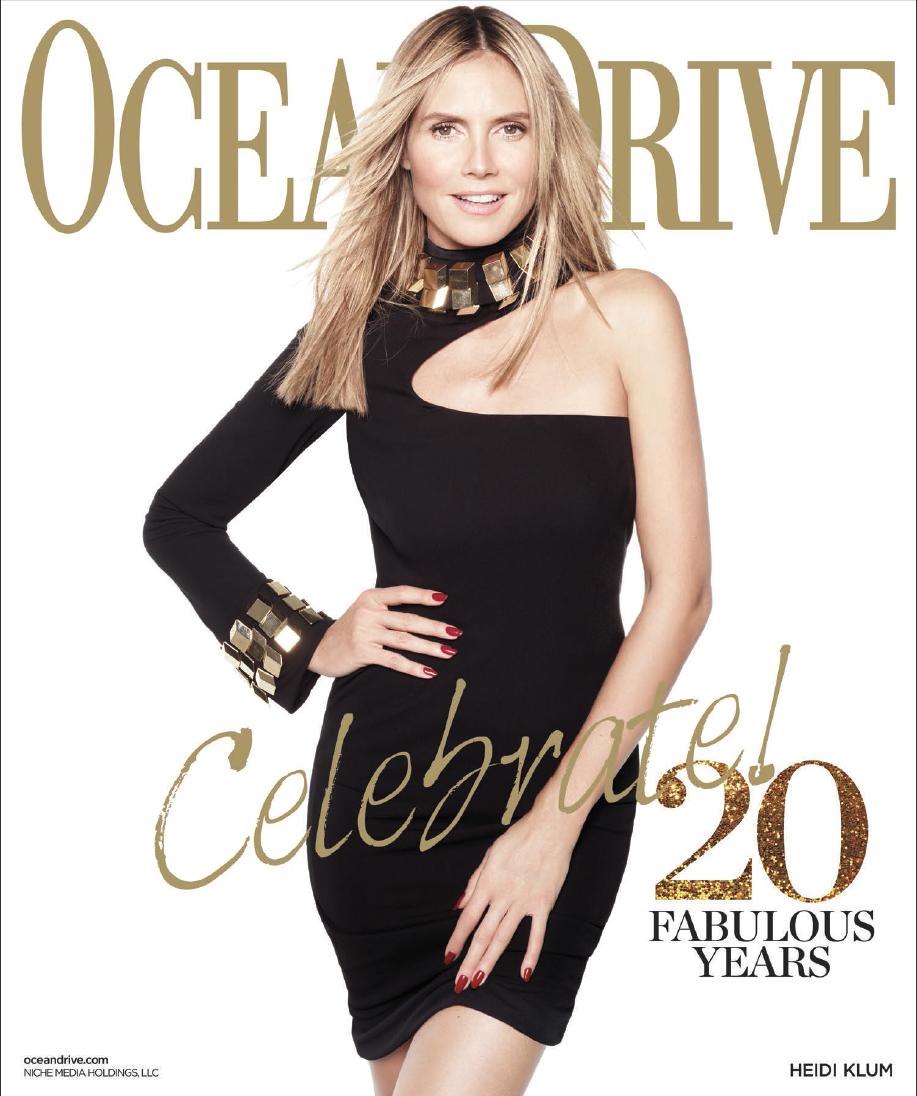 Heidi Klum for Ocean Drive January 2013