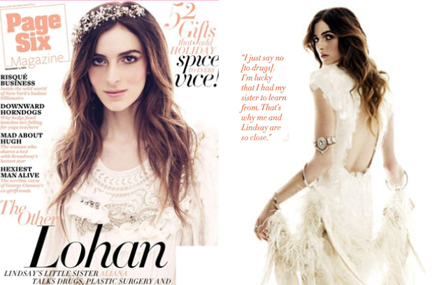 Ali Lohan for Page Six Magazine December 2011