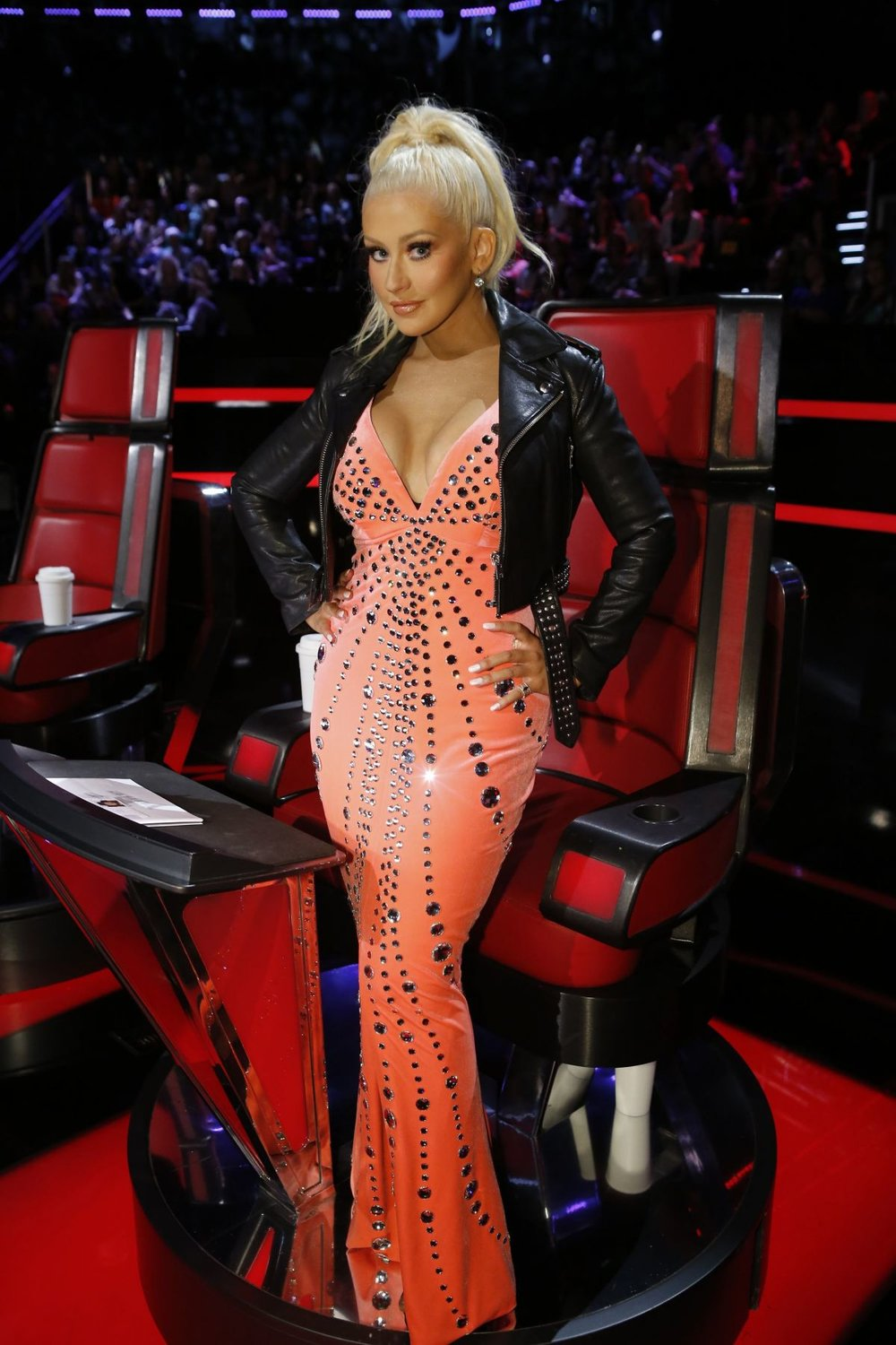 Christina Aguilera on The Voice, season 10