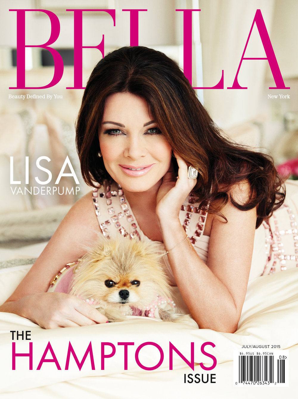 Lisa Vanderpump for Bella NYC Magazine, July/August 2015