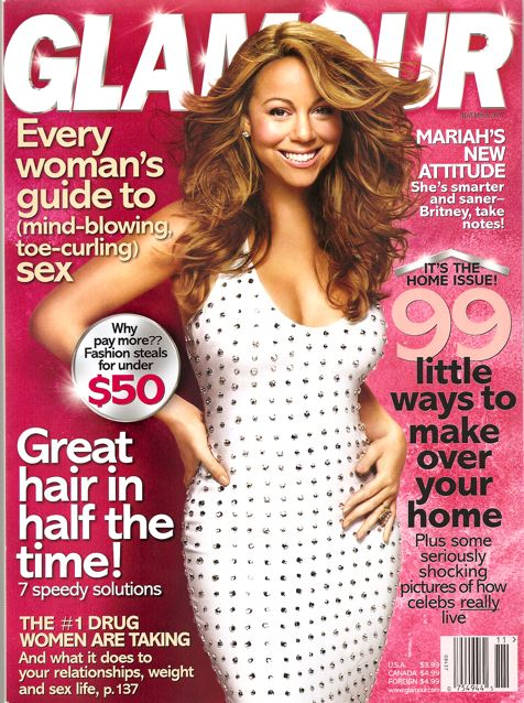 Mariah Carey, Glamour Magazine November 2007