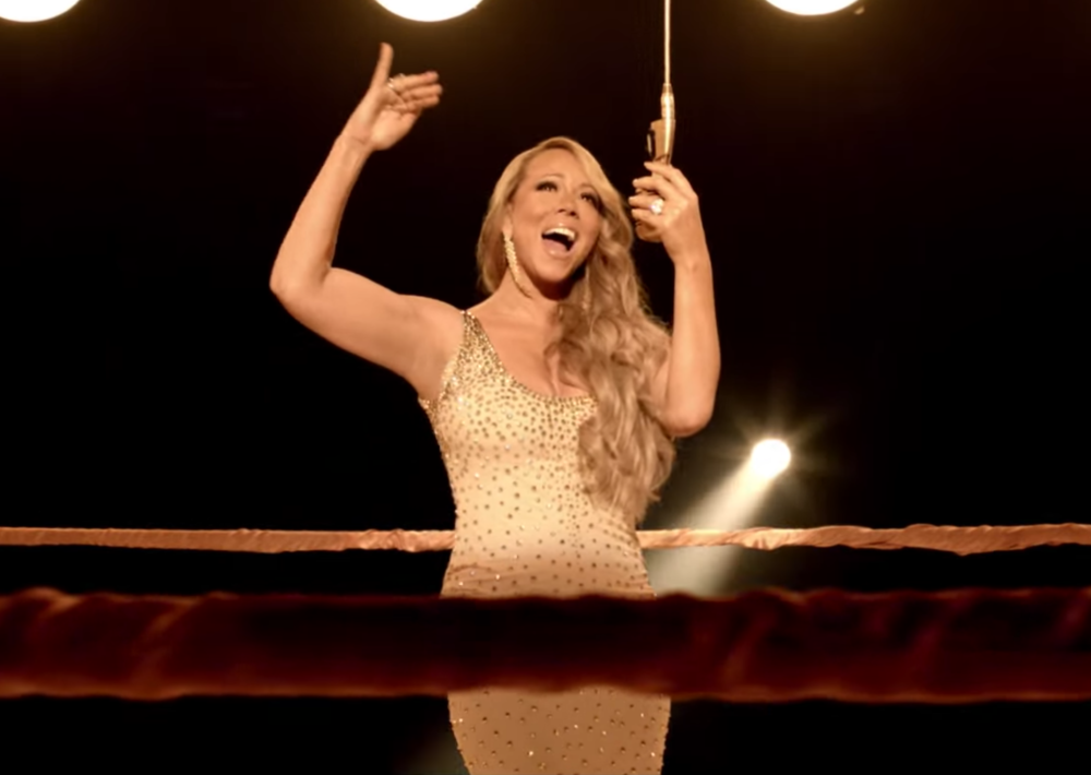 "Mariah Carey in ""Triumphant (Get 'Em)"" music video, 2012"