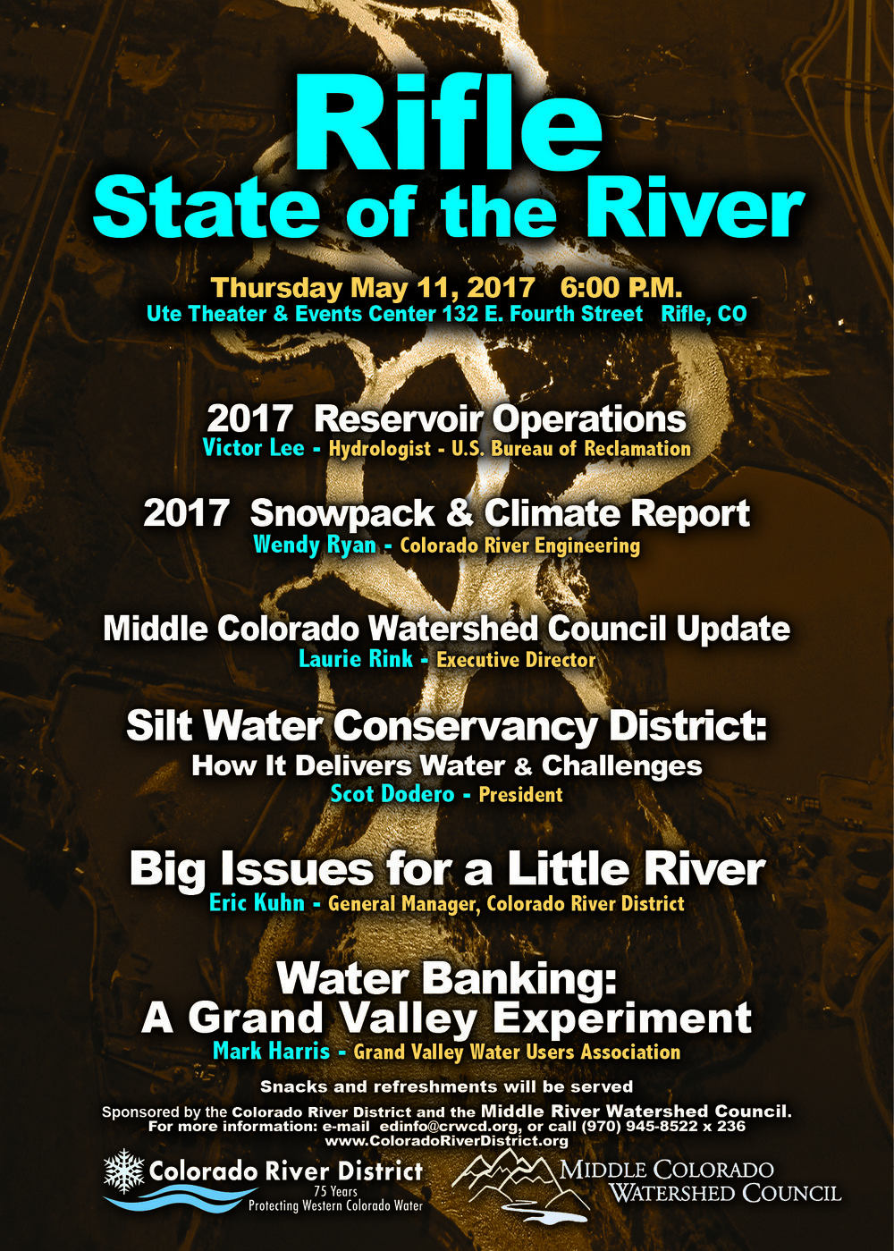 Event is free to the public! Please visit www.ColoradoRiverDistrict.org for more information about the State of the River
