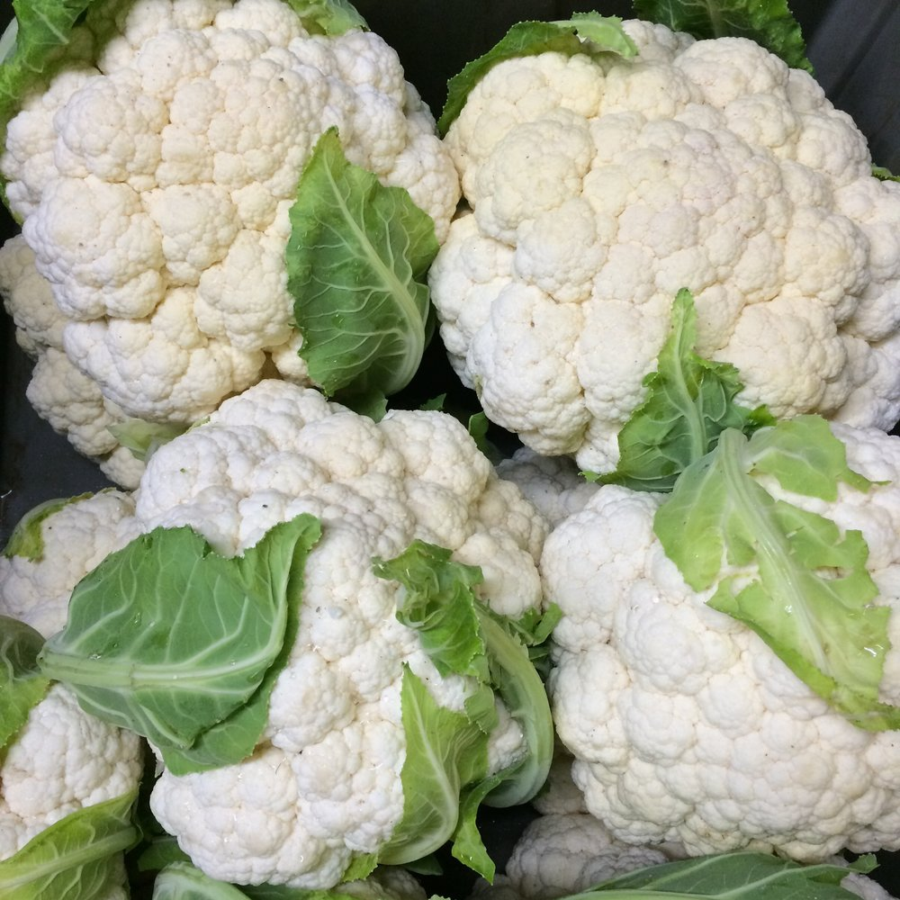 helsing junction farms csa cauliflower pile