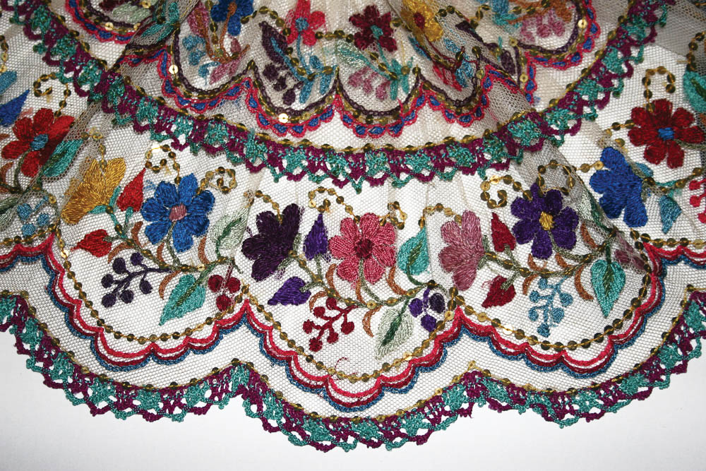 Detalle de gola o cuello ceremonial, San Cristóbal Totonicapán, Totonicapán MP-025 ©Archivo Fotográfico Museo Ixchel del Traje Indígena Fotógrafo. Anne Girard