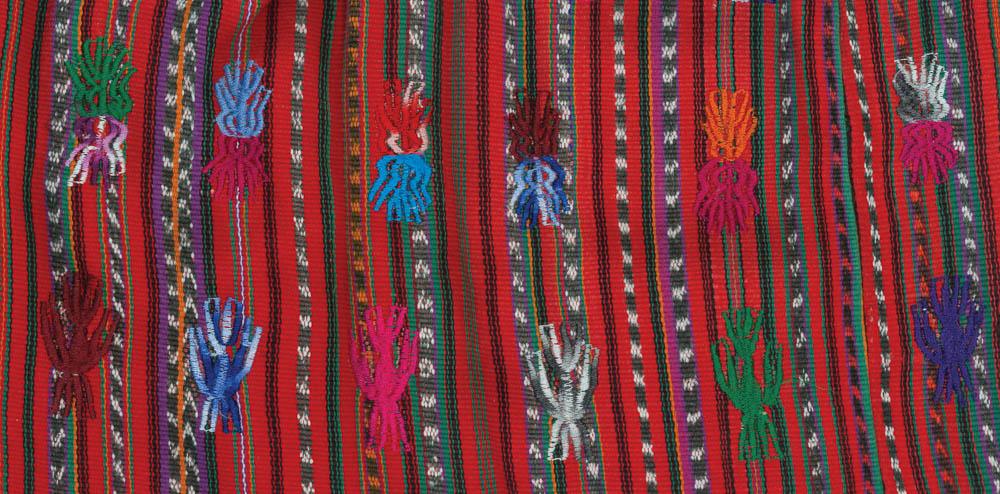 Detalle de huipil bordado a máquina, Sololá, Sololá ©Archivo Fotográfico Museo Ixchel del Traje Indígena Fotógrafo. Anne Girard