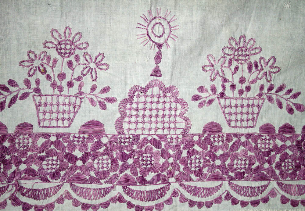 Detalle de mantel, Mixco, Guatemala MI-05013©Archivo Fotográfico Museo Ixchel del Traje Indígena Fotógrafo. Anne Girard