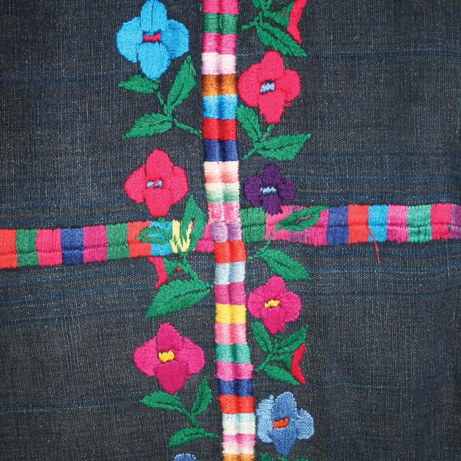 Detalle de randa corte Santo Domingo Xenacoj, Sacatepéquez MI-03570 ©Archivo Fotográfico Museo Ixchel del Traje Indígena Fotógrafo. Anne Girard