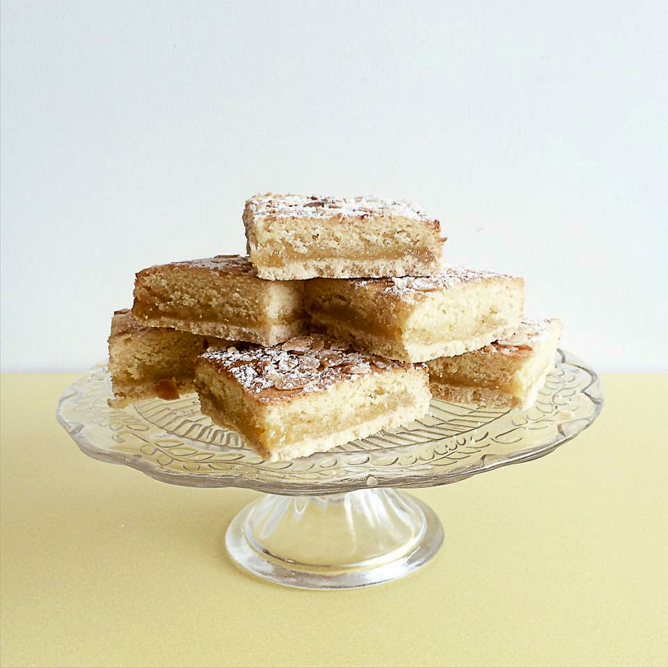lemon bakewell slice