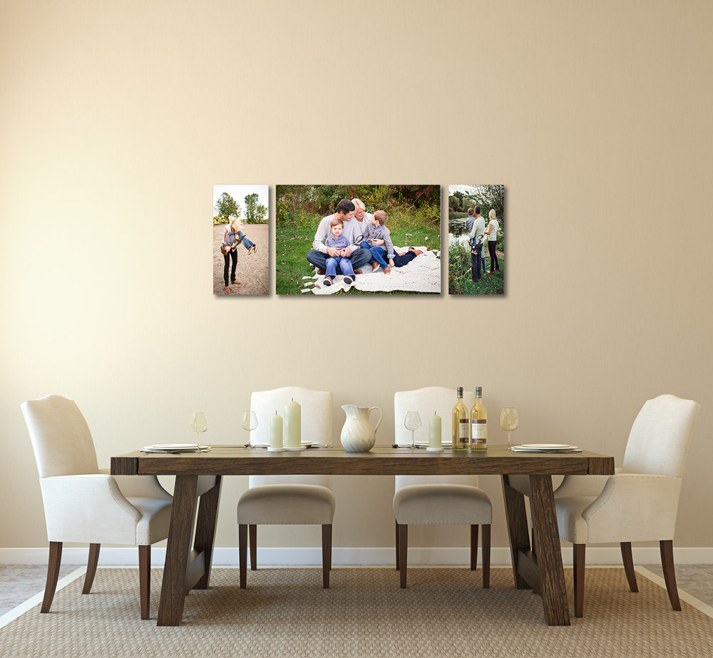 dining room with family photos - Plymouth - Minnesota family photography