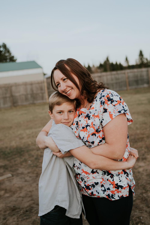 mommy hugging her little boy - Wayzata Child Photographer