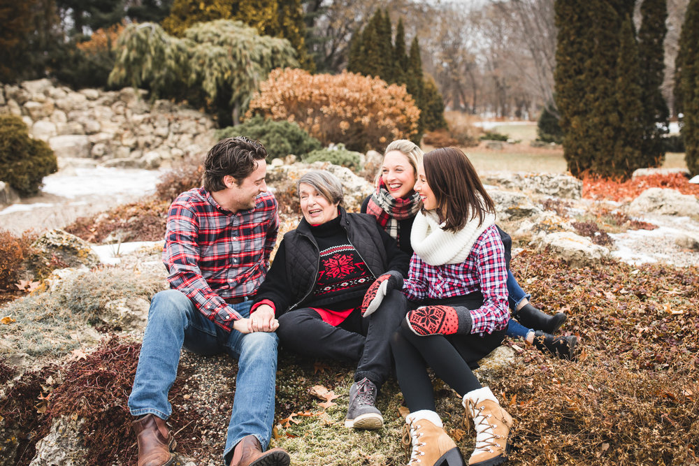 older woman with her children - Minnetonka Family Photographer