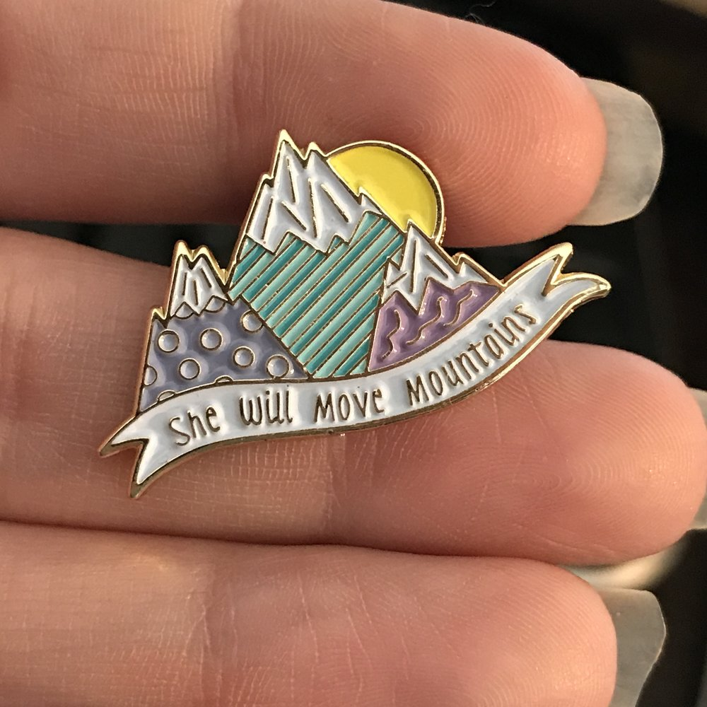 Mountain Mover Enamel Pin - This pin is an exclusive design created by me and is part of the