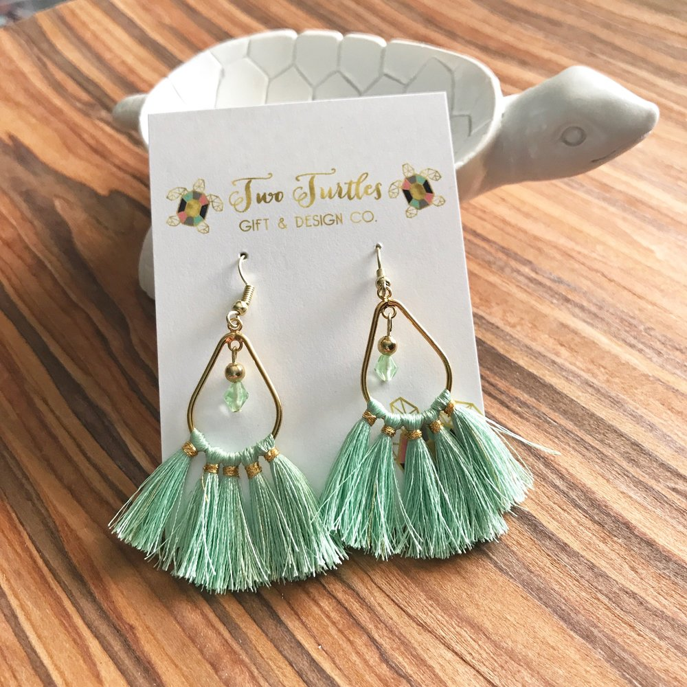 Teardrop Tassel Earrings - Gorgeous handmade statement earrings to transition from summer to fall!
