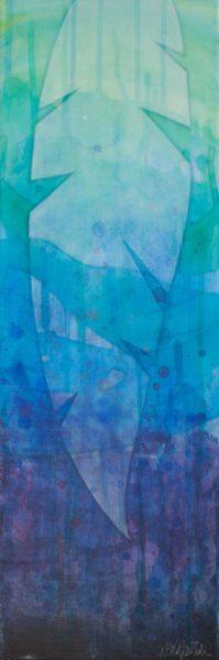 "COVERED  2015, Media: Acrylics on canvas  24""x24""x1.5""  USD$500"