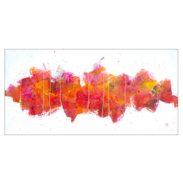 "BRIDGE , 2019  Acrylics on canvas  12""x24""x1.5""    PRINTS   from $65"