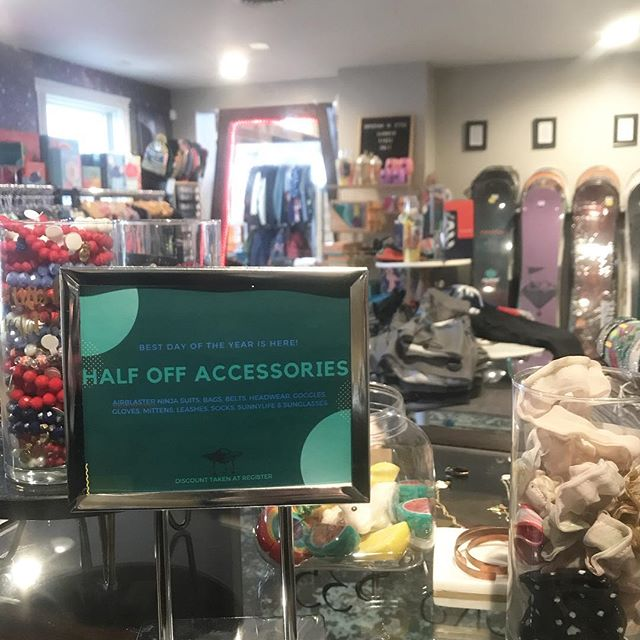 Day 3. Mothership is open until 5PM stop in for the LAST day of our one of a kind sale! Accessories all half off! FREE HAT when you spend $100 or more today.