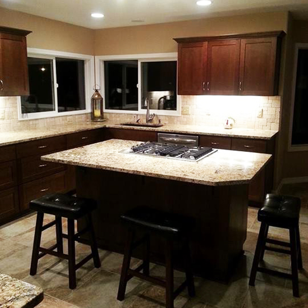 Granite countertop kitchen's are beautiful, extremely durable and easy to maintain.