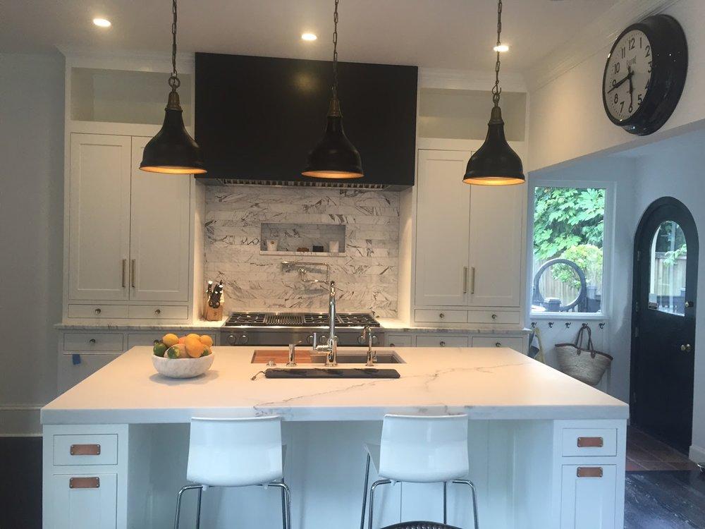Northwest Portland Kitchen island, Milan Stoneworks