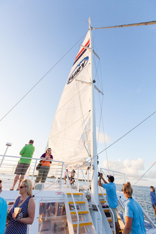 Key West Sunset Sail Fury Catamaran