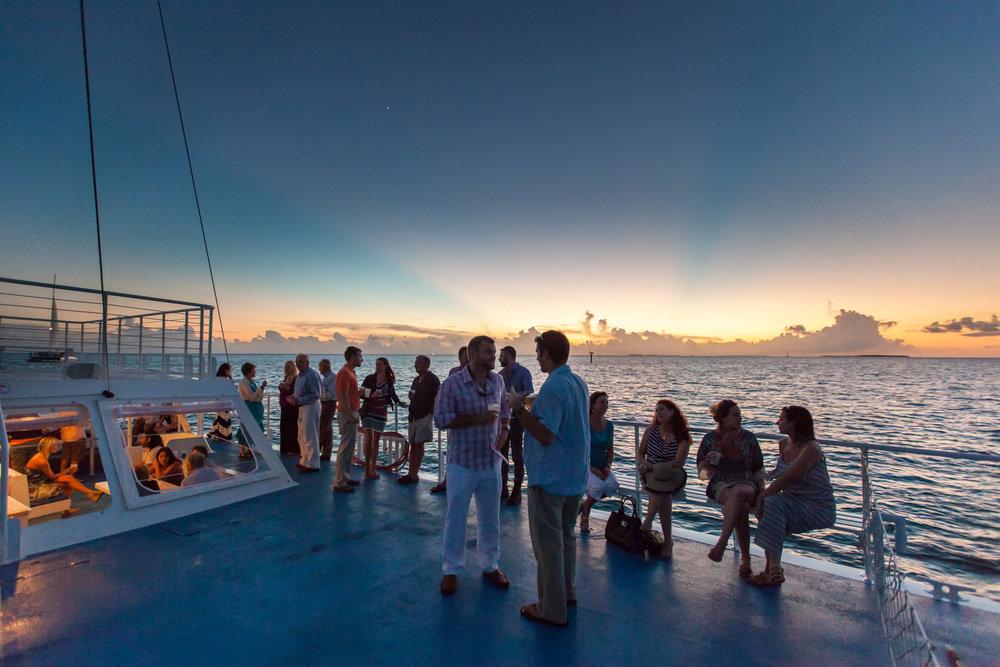 Key West Wedding Welcome Sunset Sail