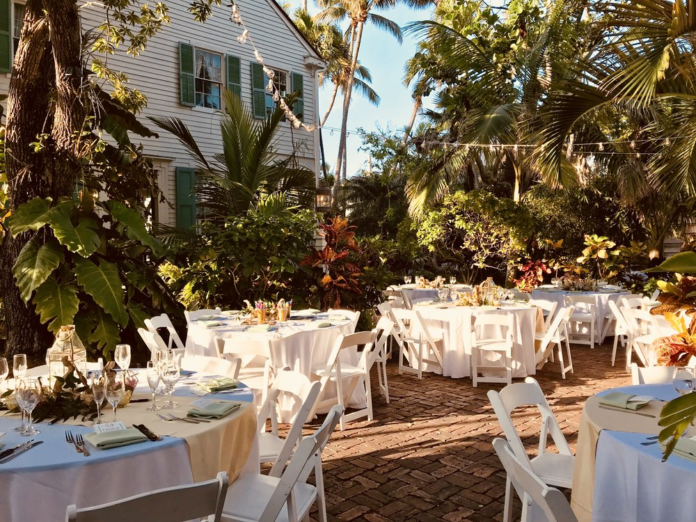 Key West Garden Wedding Audubon House