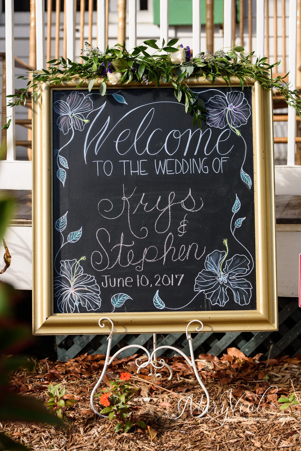 XLG Chalkboard Welcome Sign (PreWritten, Change Names & Date)