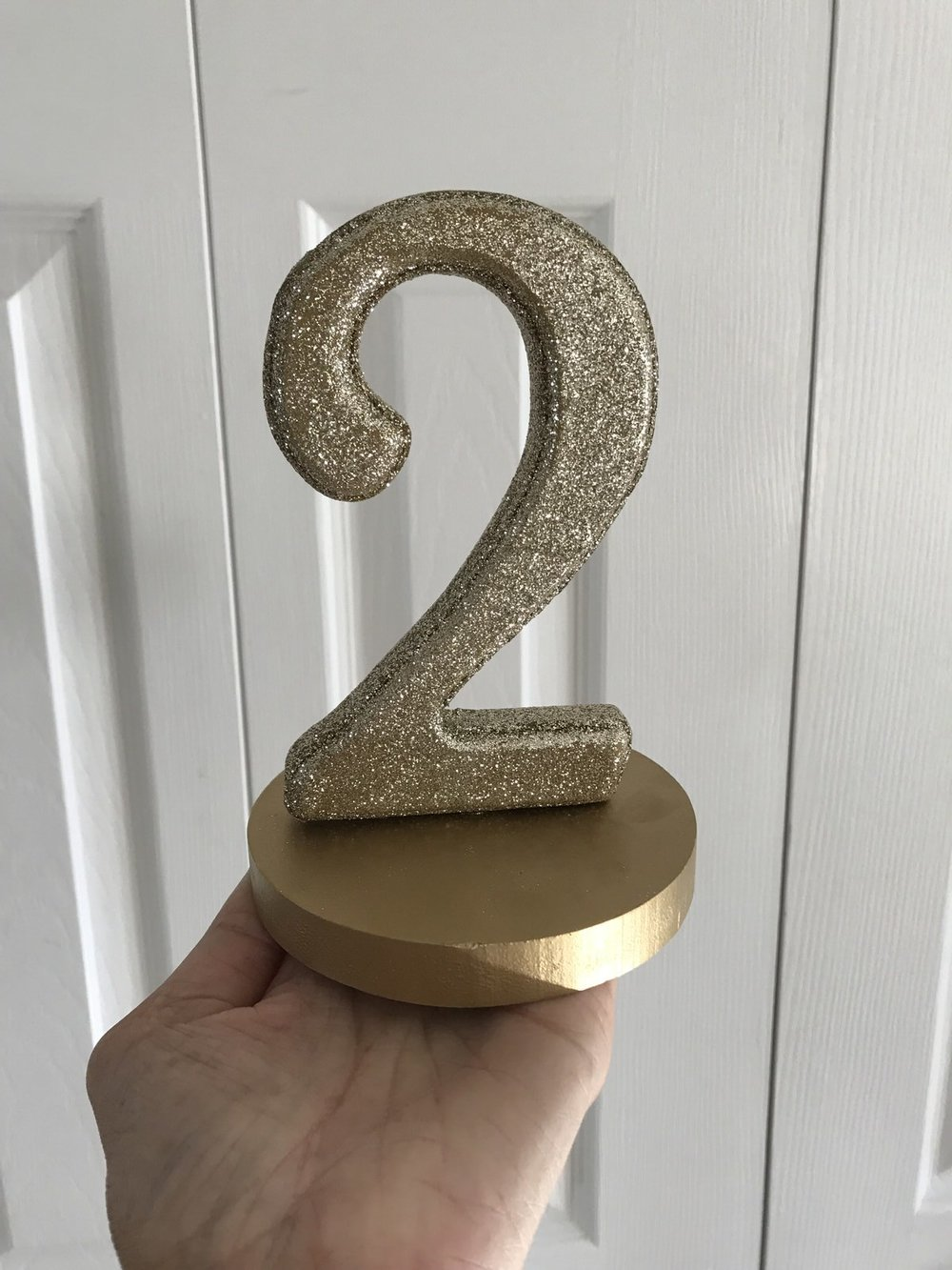 Gold Glitter Table Numbers, 1-10 Available