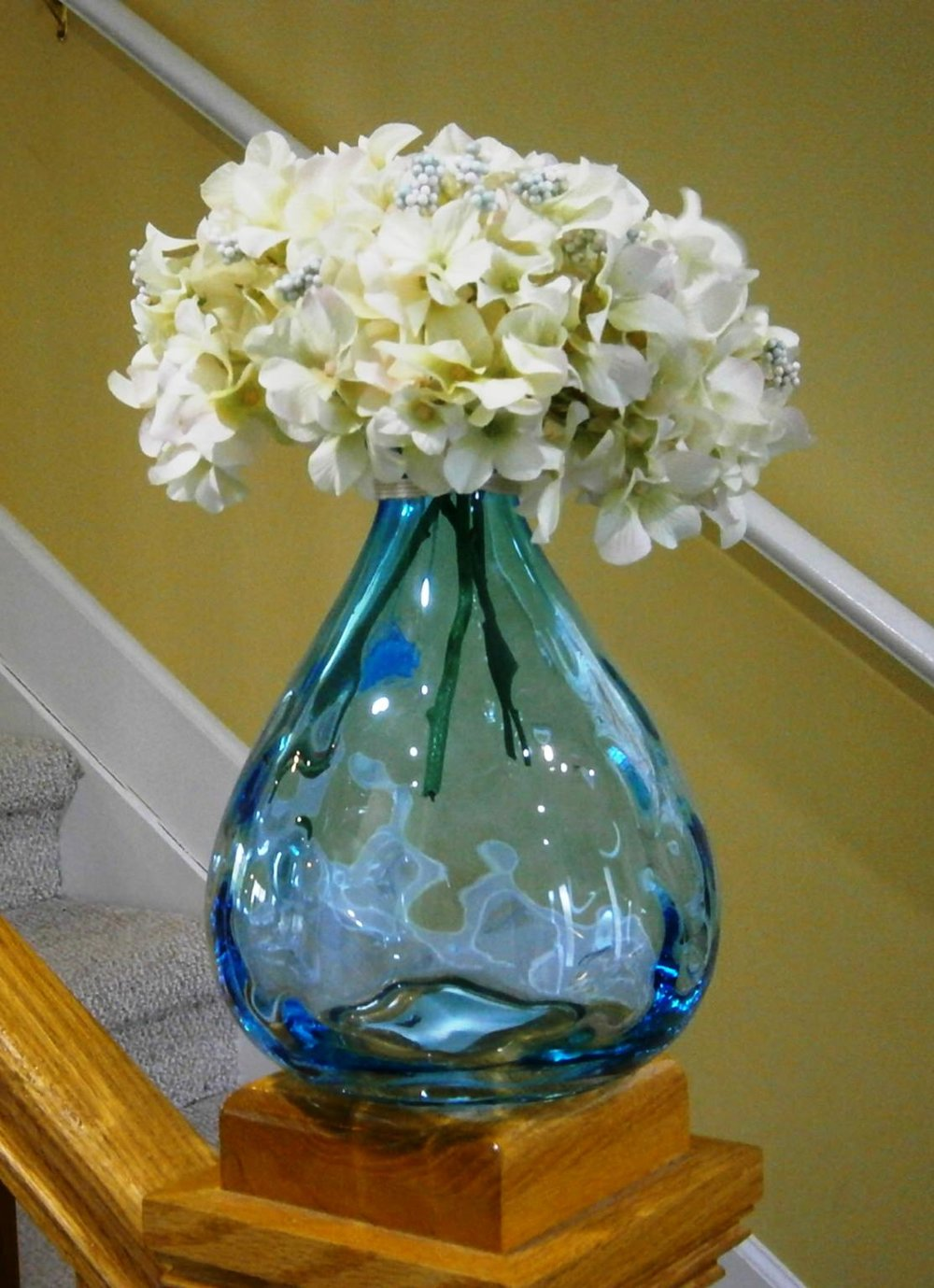 Turquoise Blue LG Vase (8 Available)