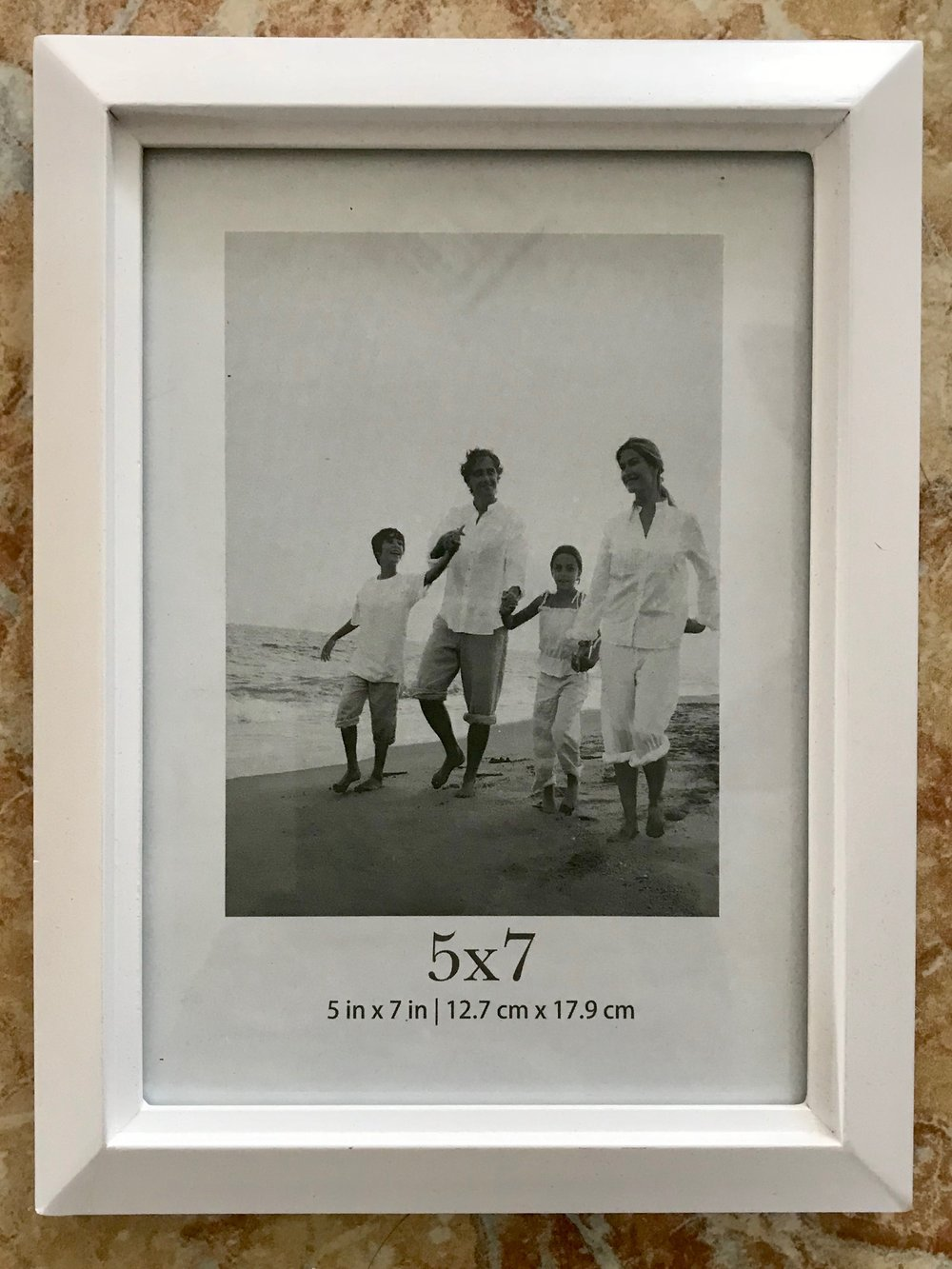 5x7 White Plain Frame