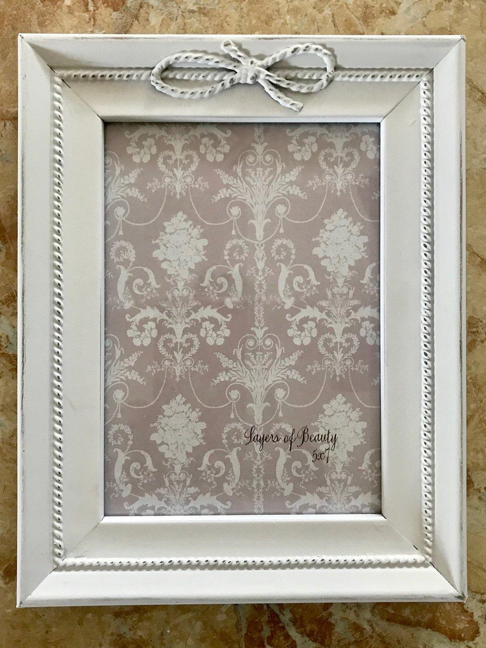 5x7 White Frame