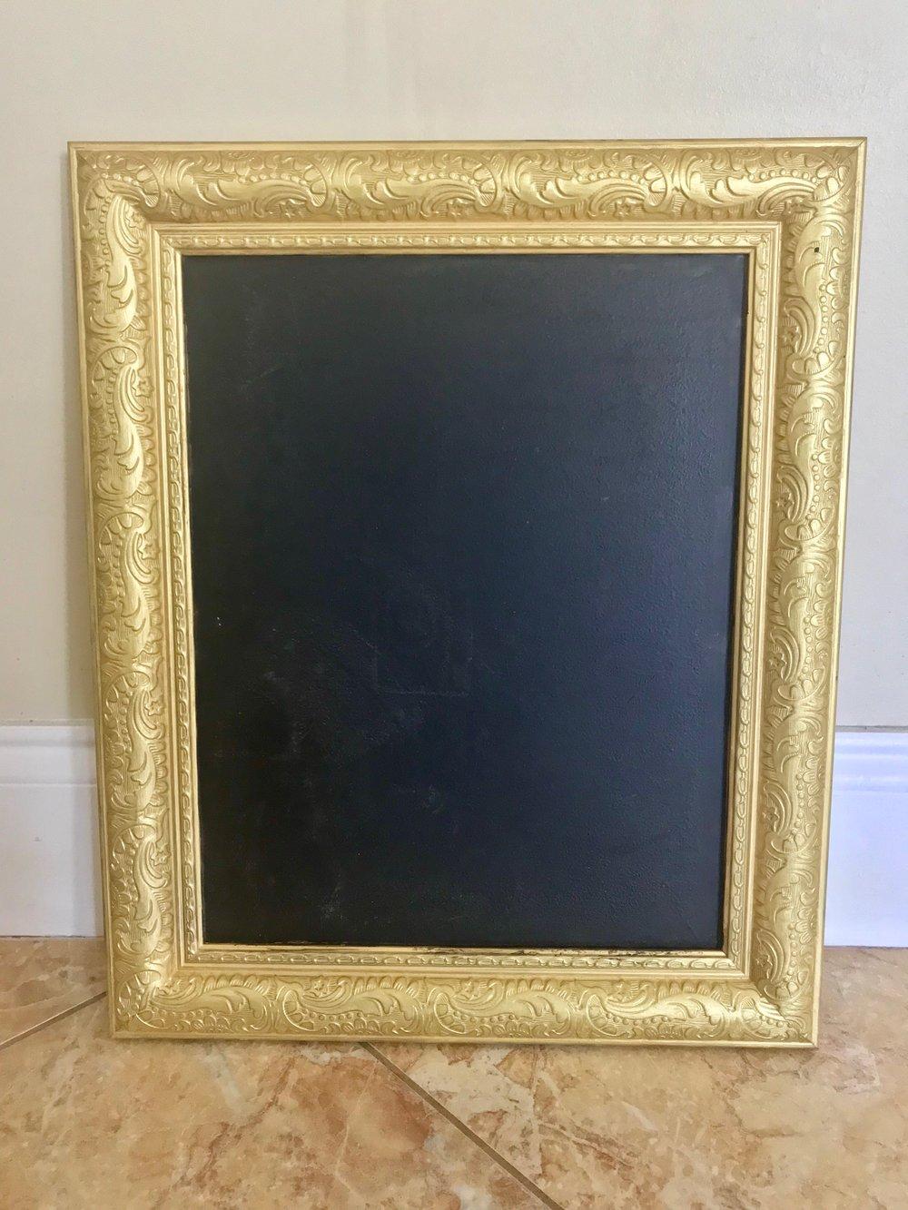 11x14 Gold Chalkboard