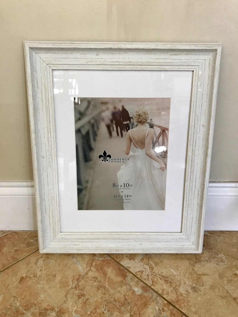 11x14 or 8x10 White Wood Frame