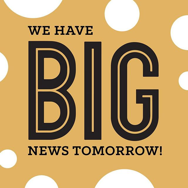 We'll be dropping a BIG announcement tomorrow at noon. Stay tuned for more details 😁