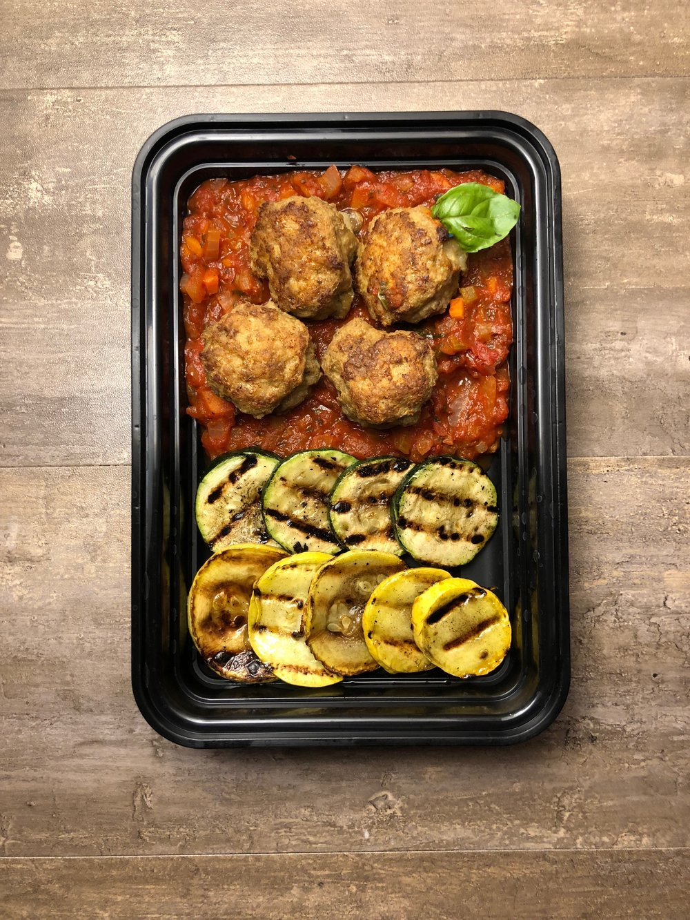 Cheese Stuffed Turkey Meatballs Meal Prep