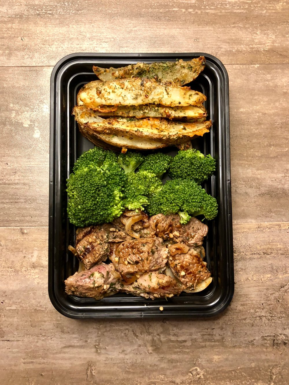 Grilled Steak with Garlic Parmesan Potato Wedges Meal Prep