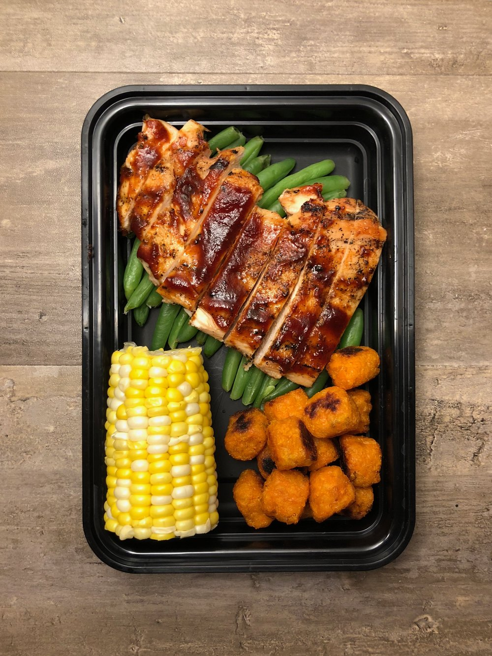 BBQ Chicken with Green Beans Meal Prep
