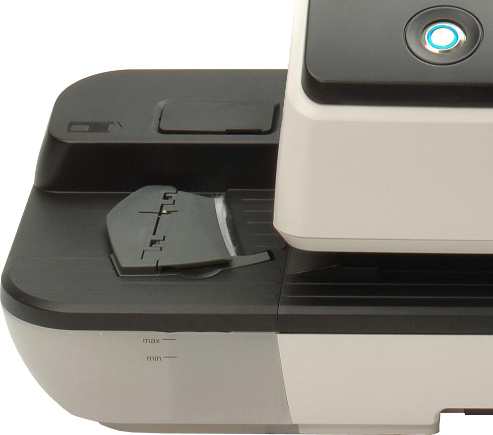 Optional moistener, automatically prepares envelopes for sealing
