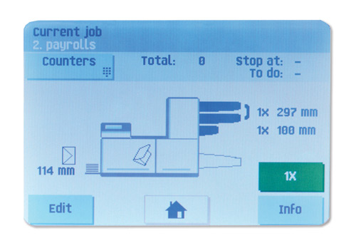 """Full-color 5.7"""" touchscreen control"""