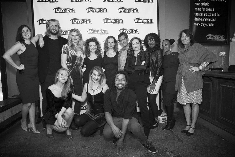 Cast and crew at  opening night of  The Way West  at Labyrinth Theater