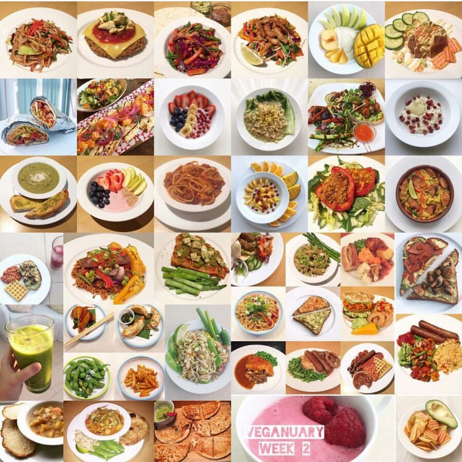 Look at all this amazing food in just ONE week - Photo taken from  the.hangry.vegan
