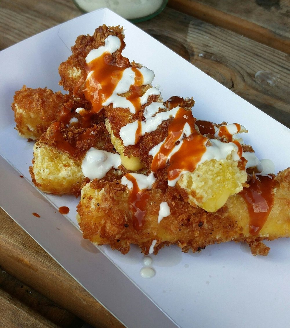 Beer Battered Cheeze Fries by  Club Mexicana  - think Beer Battered Fondue... just heavenly!