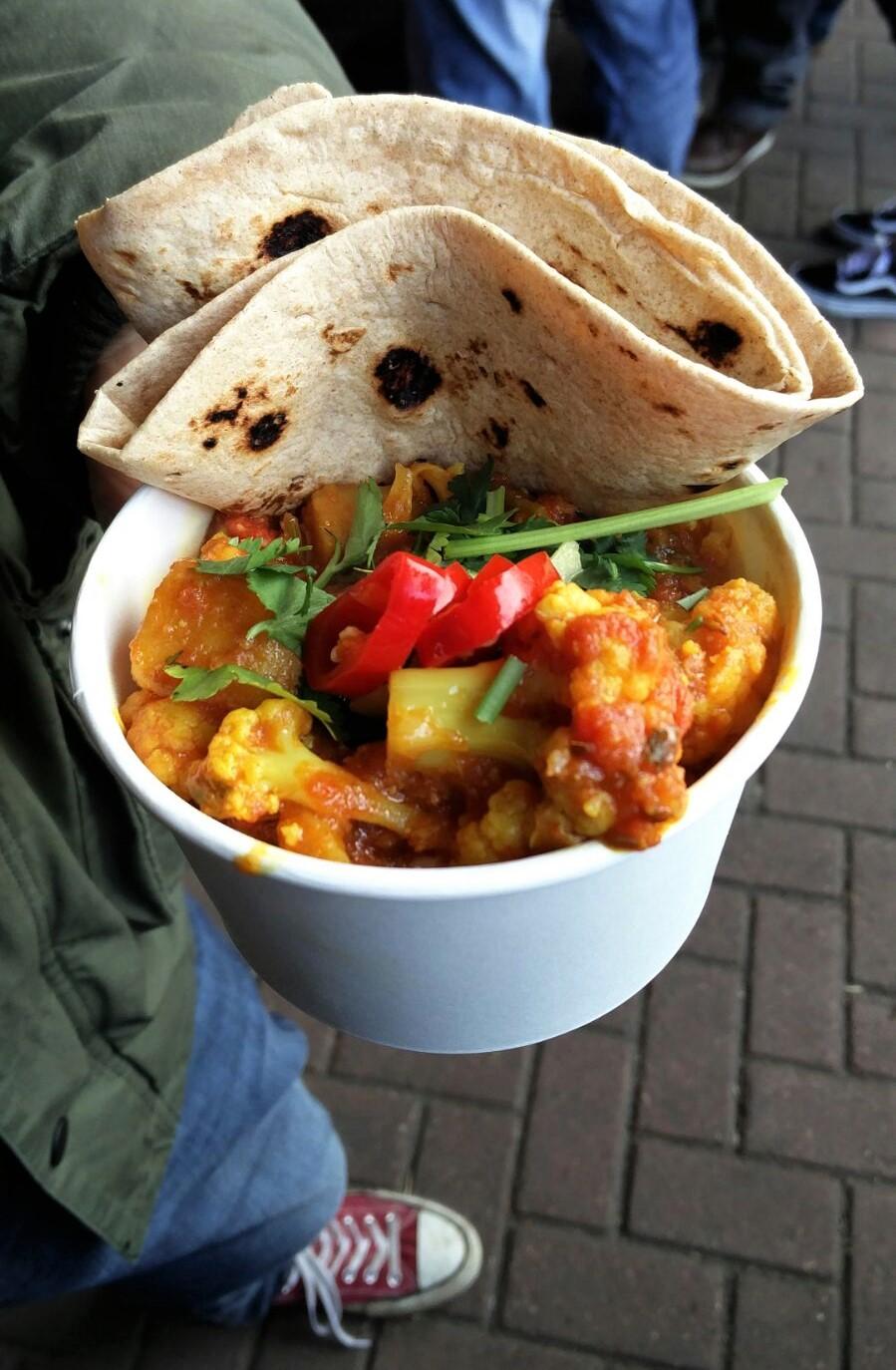 The yummy Aloo Gobi from  Vaso Kitchen