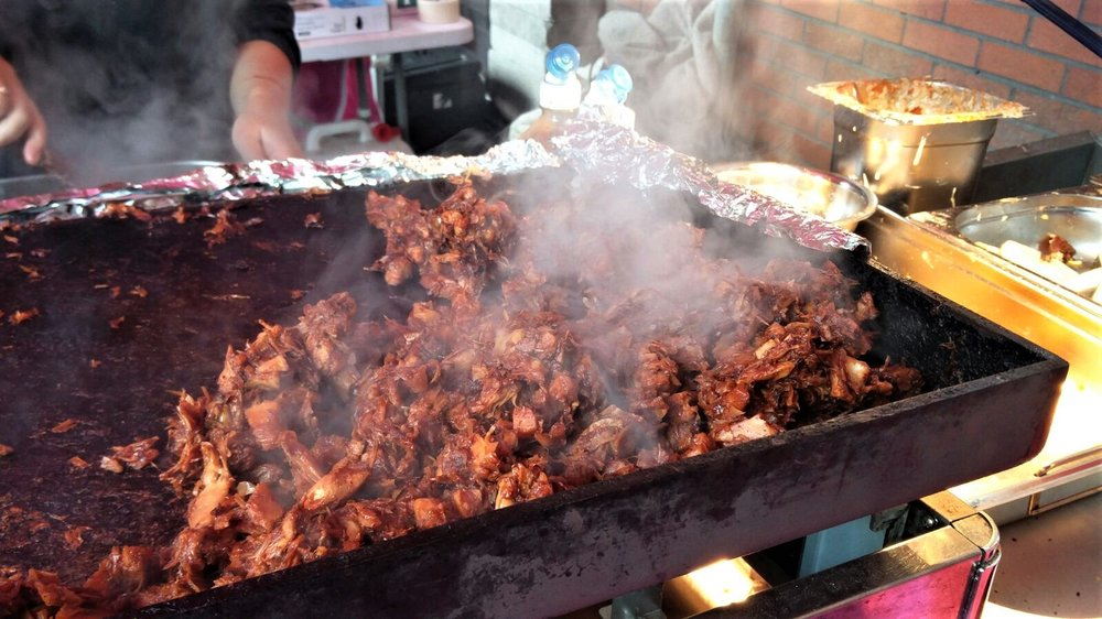 BBQ Jackfruit heaven - oh my... the smell coming off this thing from  Club Mexicana