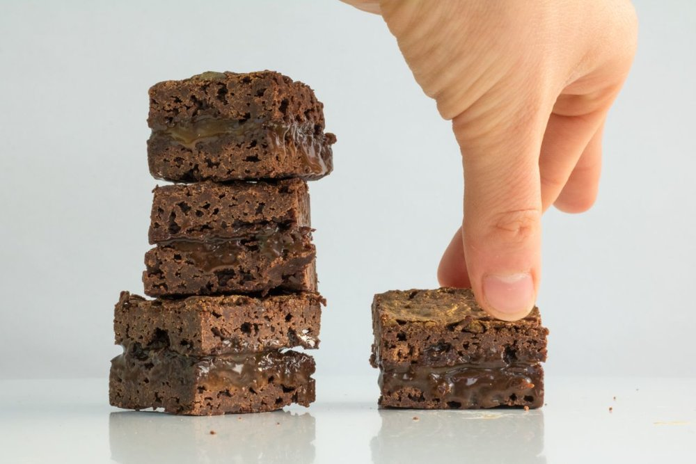 Brownies straight from the fridge - Photo by  @WhatAyeCee