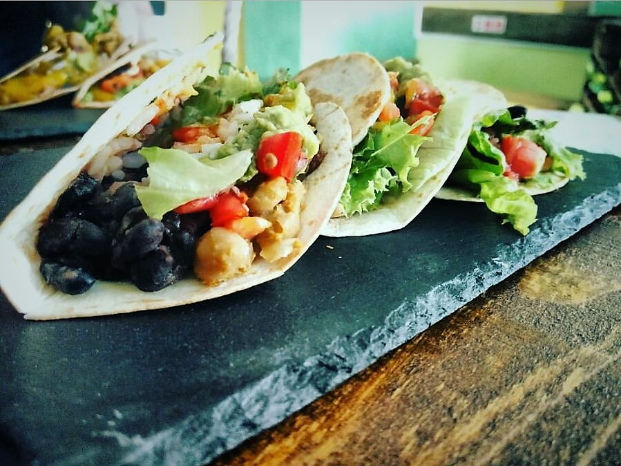 Incredibly delicious Tacos from  Beats and Burritos , Lagos (Portugal).