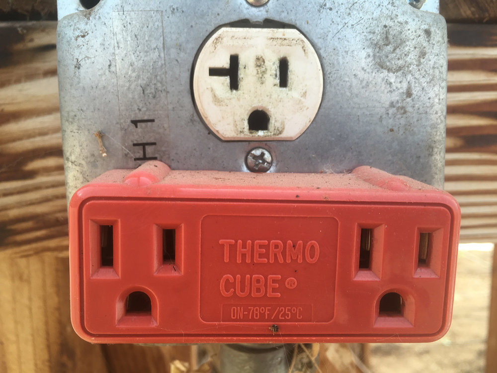 Hot Thermo Cube for our hoop house exhaust fans.